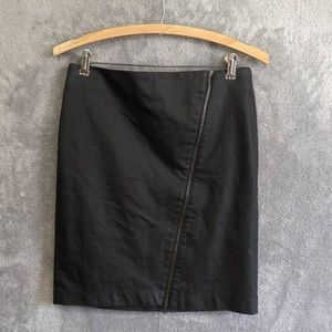 Banana Republic Black Waxed Mini Skirt size 4P
